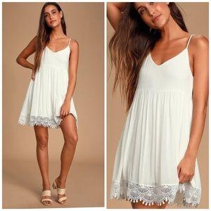 Lulu's ⭐ Rhiannon Ivory Lace Babydoll Dress